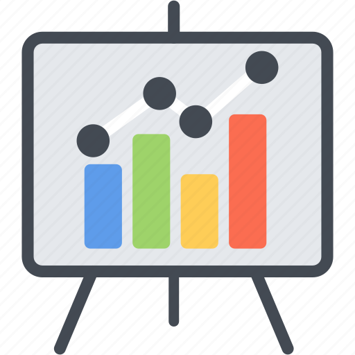 chart, display, graph, office, presentation, projector, screen icon