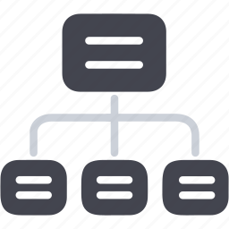 business, hierarchy, seo, sitemap, structure, web icon