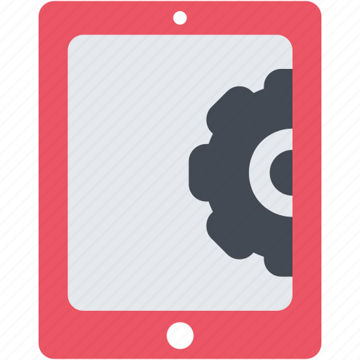 configuration, gear, options, preferences, setting, tablet icon