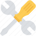 construction, equipment, screwdriver, setting, tools, wrench icon
