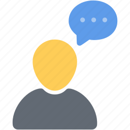 bubble, chat, comment, person, profile, talk, user icon