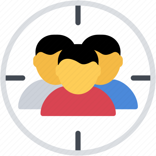 aim, group, people, person, target, users icon
