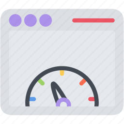 app, browser, internet, meter, network, page, web, window icon