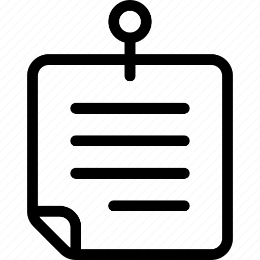 note, notes, text icon