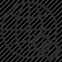 earth gear, global, globe, internet, world icon