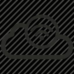 cloud, icloud, network, puff cloud, puffy, wifi icon