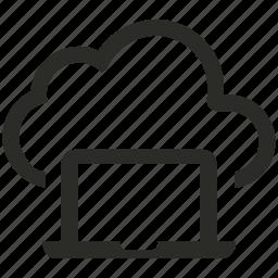 cloud, computer, laptop icon