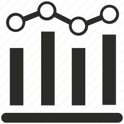 analysis, bar, diagram, financial, graph, growth, statistics icon