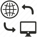 connection, distribution, internet, network, online icon