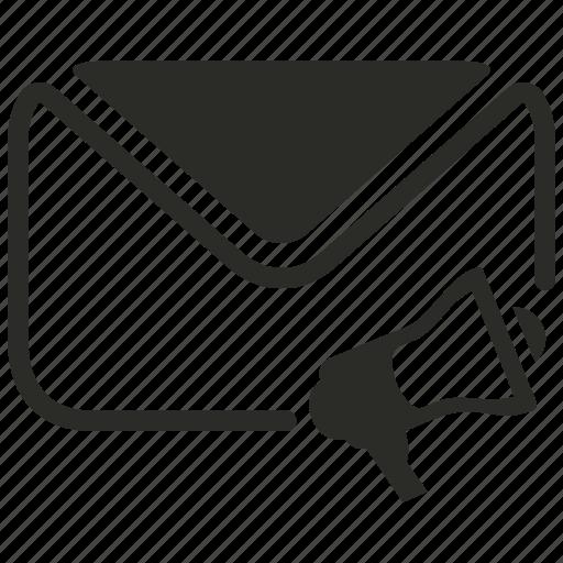 email, marketing, speaker, sponser icon