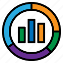 analysis, chart, seo, web icon