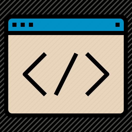 code, coding, seo, web, website icon