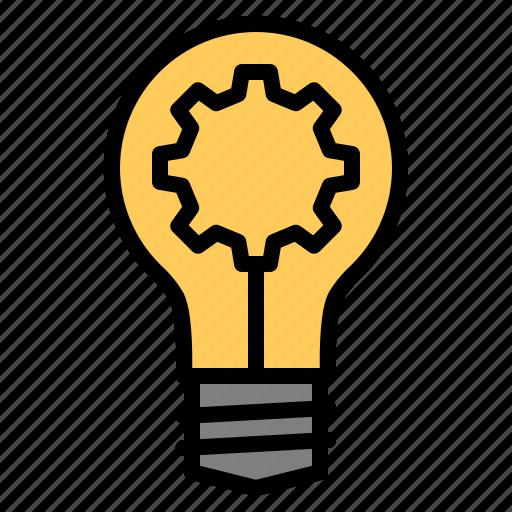 best, bulb, gear, good, idea, seo, web icon