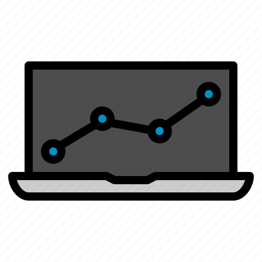 chart, labtop, monitoring, seo, web icon