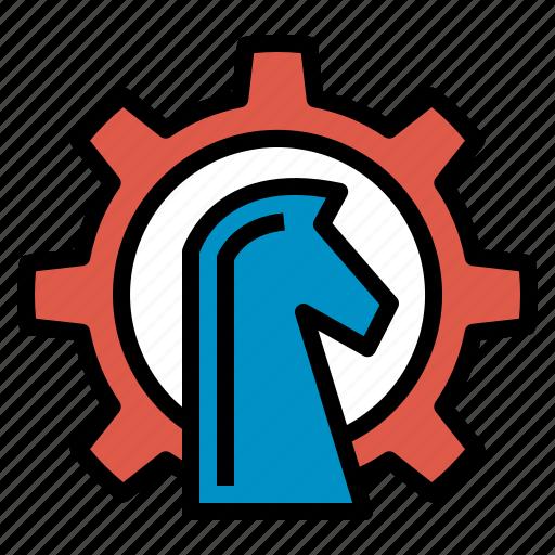 gear, growth, horse, plan, seo, strategy, web icon