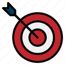 aim, arrow, seo, success, target, web icon