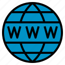 domain, globe, seo, web, www icon