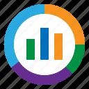analysis, chart, seo, web icon