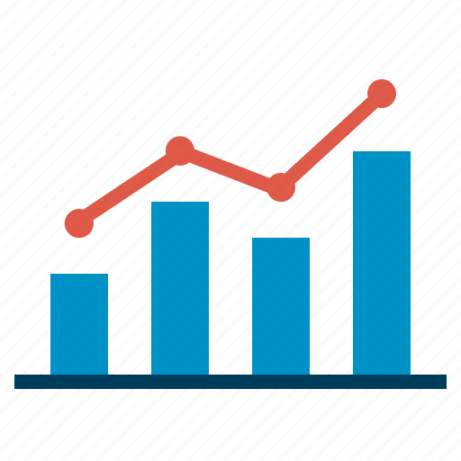 chart, growth, line, seo, success, web icon
