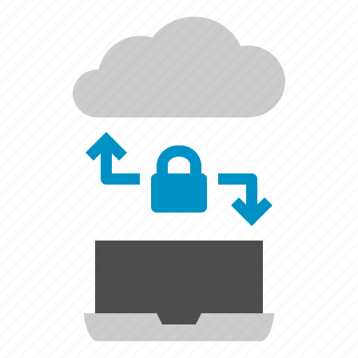 cloud, download, labtop, link, lock, seo, upload icon