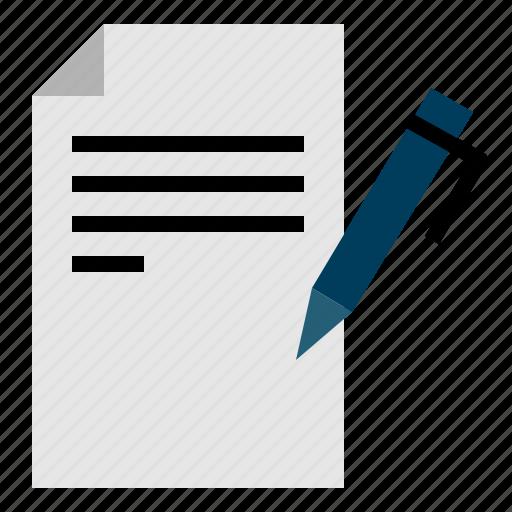 copywriting, paper, pen, seo, web icon