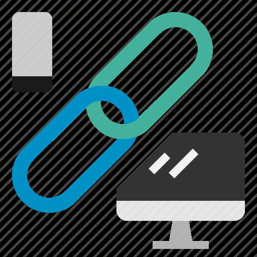 chain, computer, link, phone, seo, web icon
