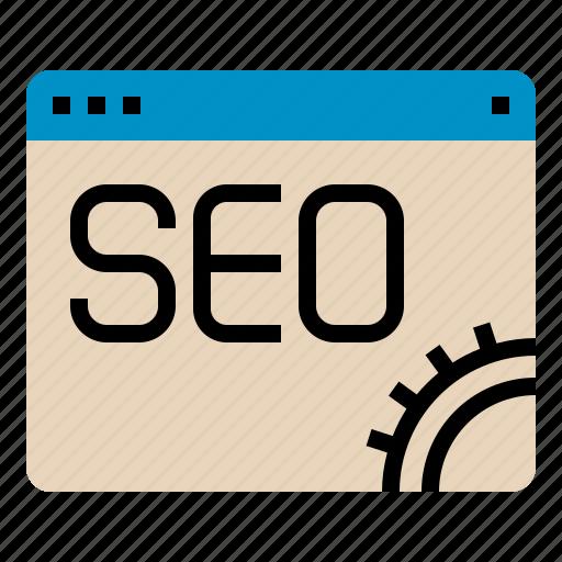 gear, seo, web, website icon