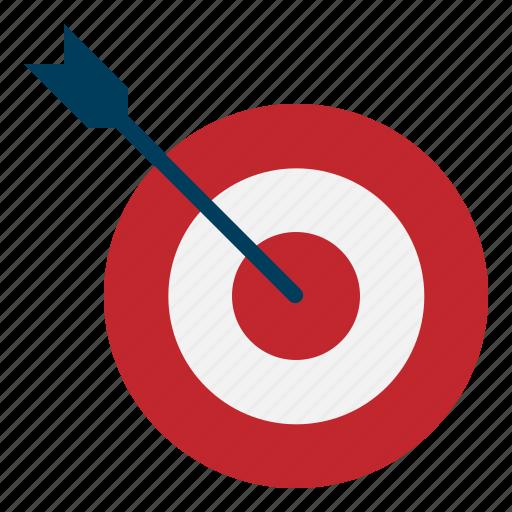 aim, arrow, seo, success, target, web icon