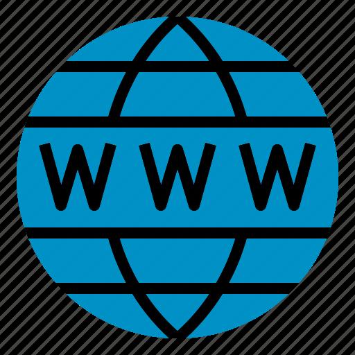 domain, globe, seo, web, www icon