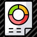 analytics, circular chart, infographic, pie chart, statistics icon