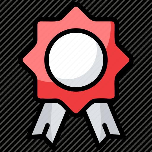 award, award badge, reward, ribbon badge, star badge icon