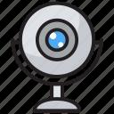 camera, computer camera, digital cam, web camera, webcam icon
