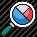 analytics, data monitoring, pie analysis, pie chart, pie monitoring icon