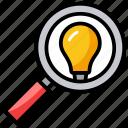 best consulting, find creativity, find idea, idea looking, search idea icon