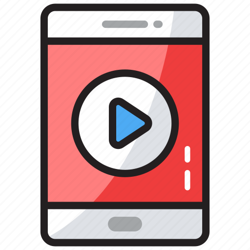 mobile player, multimedia, music player, video app, video player icon