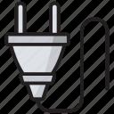 electric cord, electrical plug, electricity, plug, plug connector, power plug icon