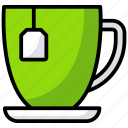 beverages, coffee cup, hot drink, hot tea, tea cup icon