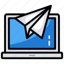 communication, feedback, mail send, message, newsletter icon