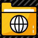 data center, data folder, global document, network folder, shared folder icon