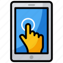 click, finger touch, gesture, phone touch, ppc, touch screen icon