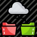 cloud computing, cloud data network, cloud hosting, data network, data transfer icon