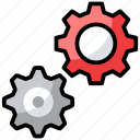 cogwheel, configuration, gears, preferences, settings icon