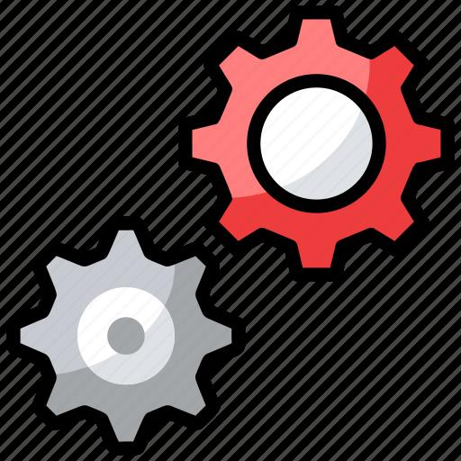 cogwheel, configuration, gears, preferences, settings icon