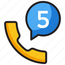 call missing, call notification, missed calls, phone calls, unattended calls icon
