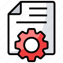 document configuration, document setting, file options, optimize page, page preferences icon