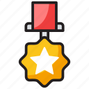 army badge, award badge, bravery symbol, military badge, star badge icon