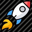 missile, rocket, rocket launch, spacecraft, spaceship, start up icon