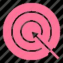 arrow, business, dartboard, internet, optimization, seo, target icon