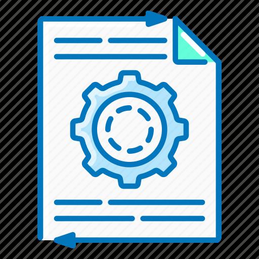 content, document, gear, management, seo icon