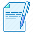 copywriting, document, pen, seo icon